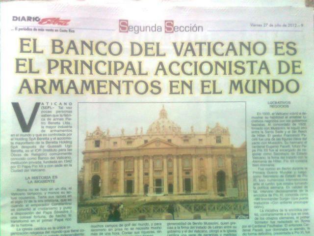 BANCO  VATICANO Y LA VENTA DE ARMAS Vaticano-armas1