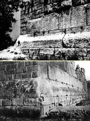 478ca baalbektemplejupiterwall - La construcción imposible de la Terraza de Baalbek, ¡a ver como la ciencia explica esto!