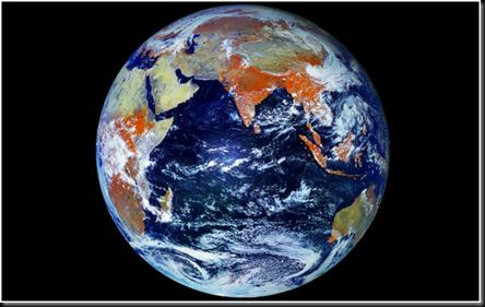 Al pasar la barrera un gran holograma que representaba la Tierra se mostró a los presentes.